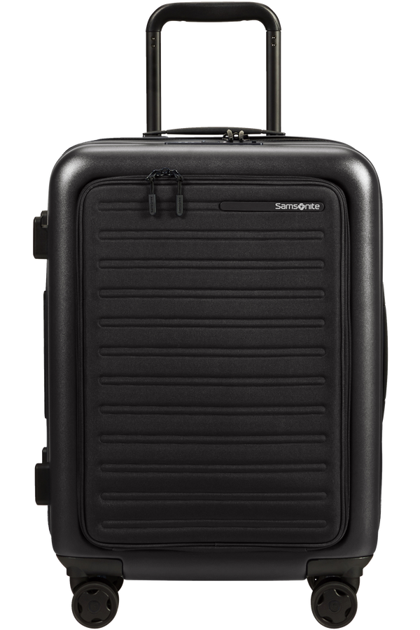 Samsonite Stackd Spinner Expandable Easy Access 55cm  Czarny