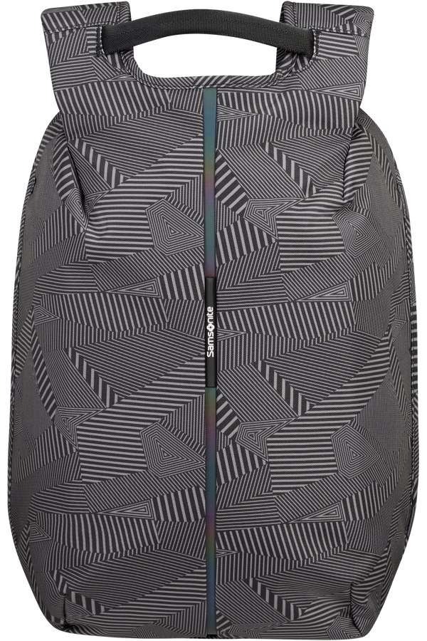 Samsonite Securipak Laptop Backpack 15.6'  Black/Grey Geometric Print