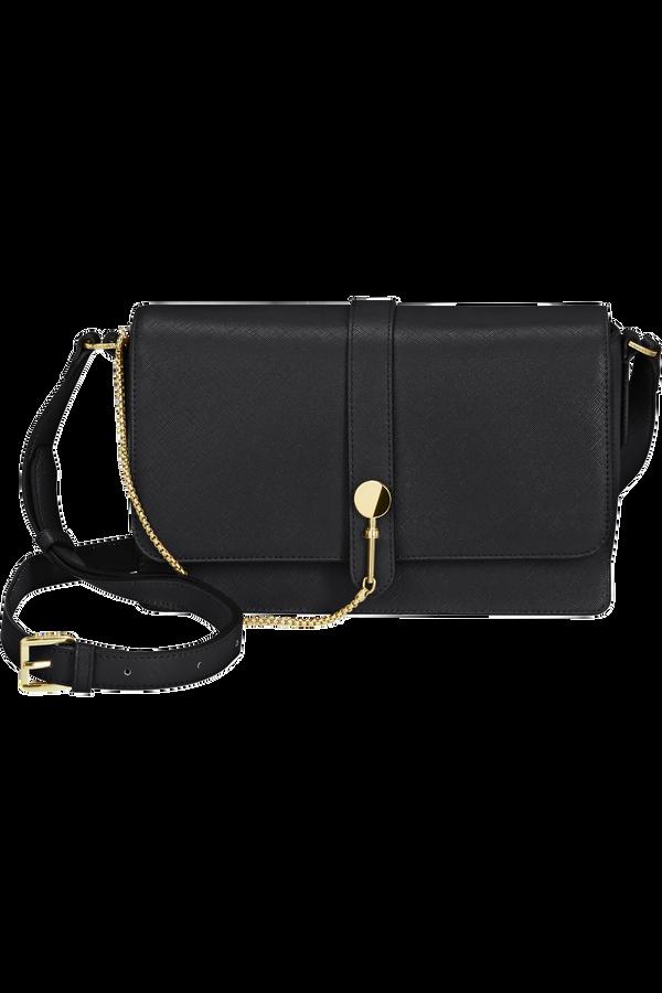 Samsonite My Samsonite Pro Shoulder Bag + Flap  Czarny