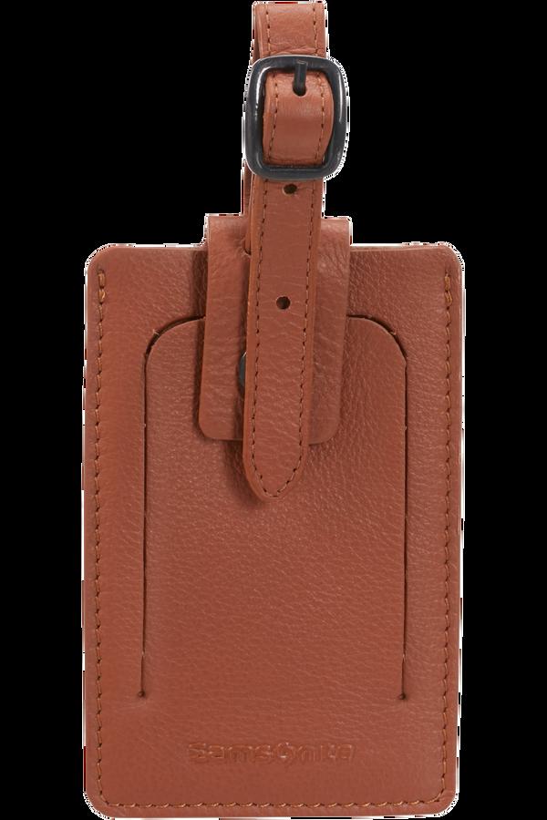 Samsonite Global Ta ID Leather Luggage Tag Cognac