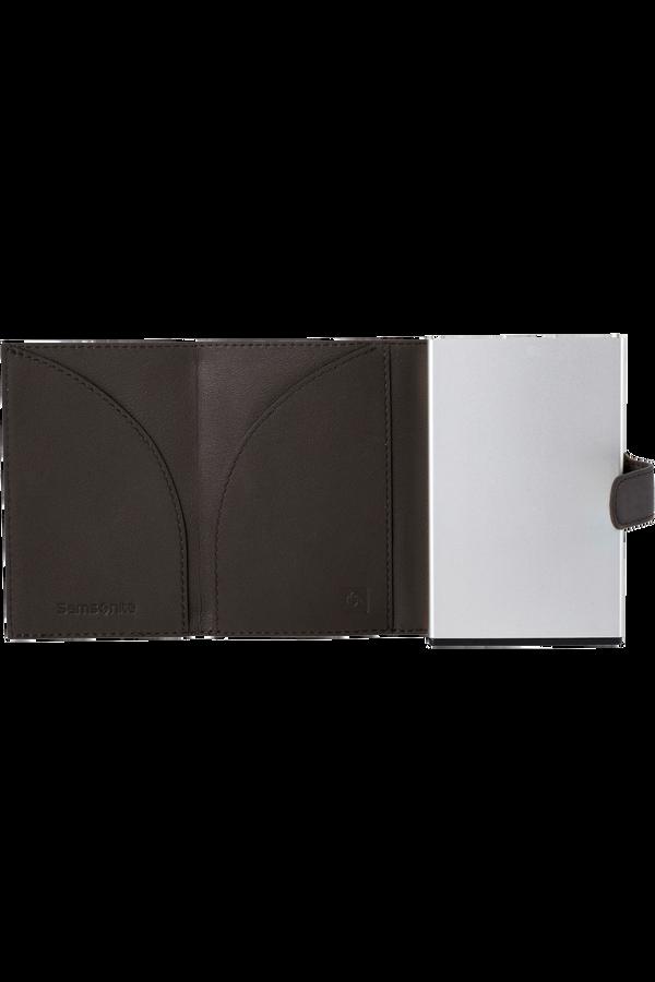 Samsonite Alu Fit 202 - Slide-up Wallet  Ciemnobrązowy