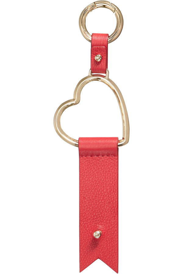 Samsonite Lady Charmy Heart Key Ring  Czerwony