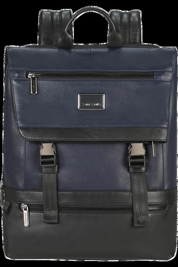 Samsonite Waymore Lth Laptop Backpack Flap Slim  15.6inch Niebieski