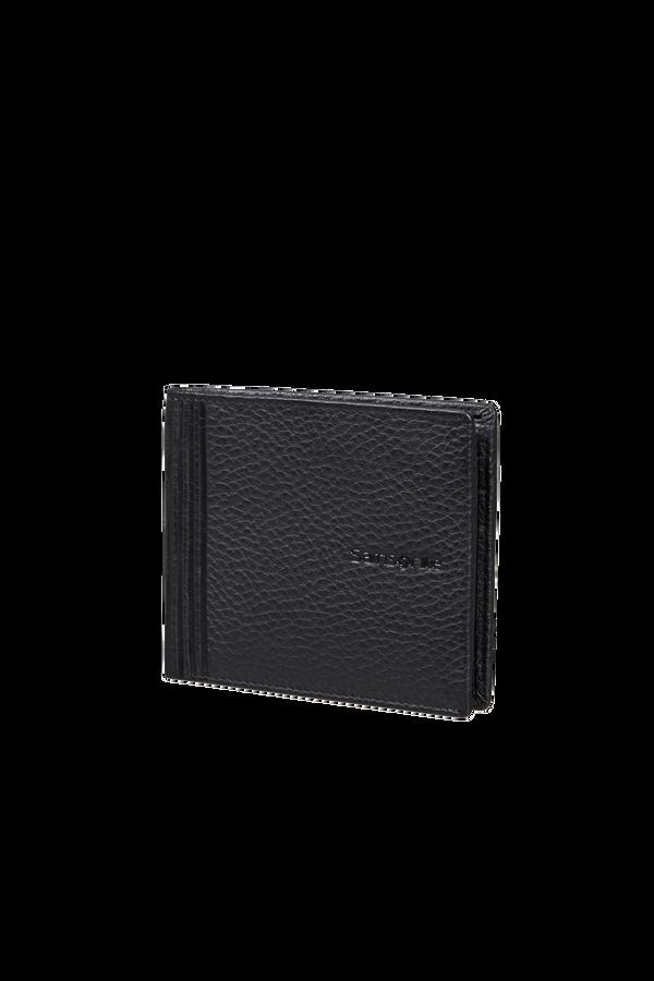 Samsonite Double Leather Slg 001 - B S 6CC+2C  Czarny
