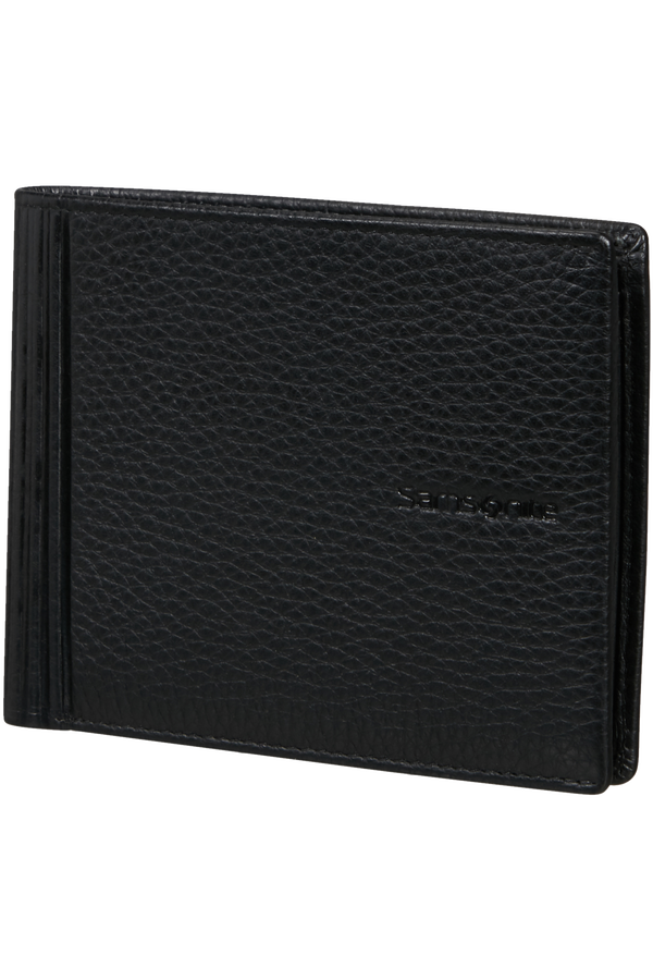 Samsonite Double Leather Slg 015 - B 4CC+2C+C  Czarny