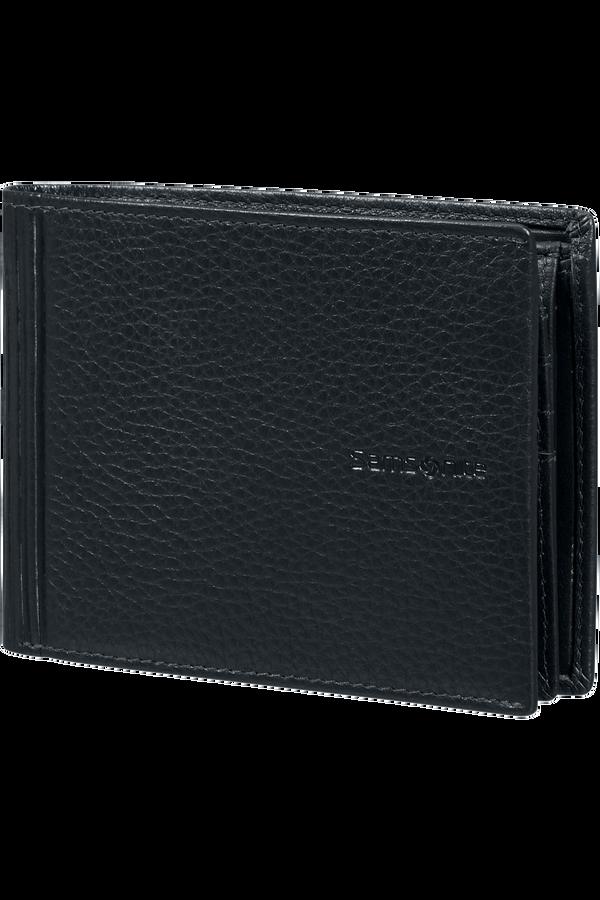 Samsonite Double Leather Slg 007 - B 7CC+VFL+C+2C+W  Czarny