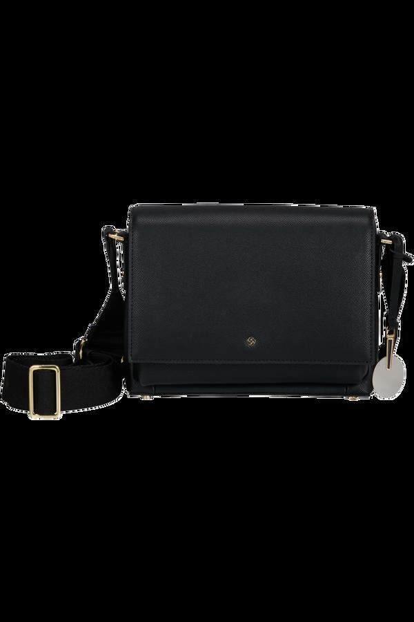 Samsonite Roundtheclock Shoulder Bag + Flap  Czarny