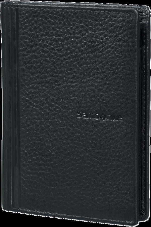 Samsonite Double Leather Slg 137 - W 6CC+HFL+2W+2C  Czarny