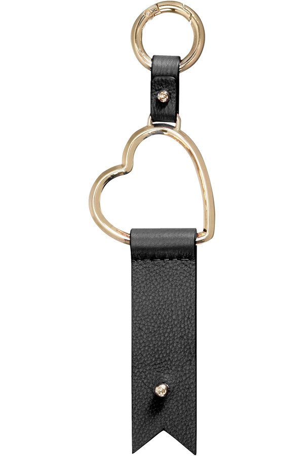 Samsonite Lady Charmy Heart Key Ring  Czarny