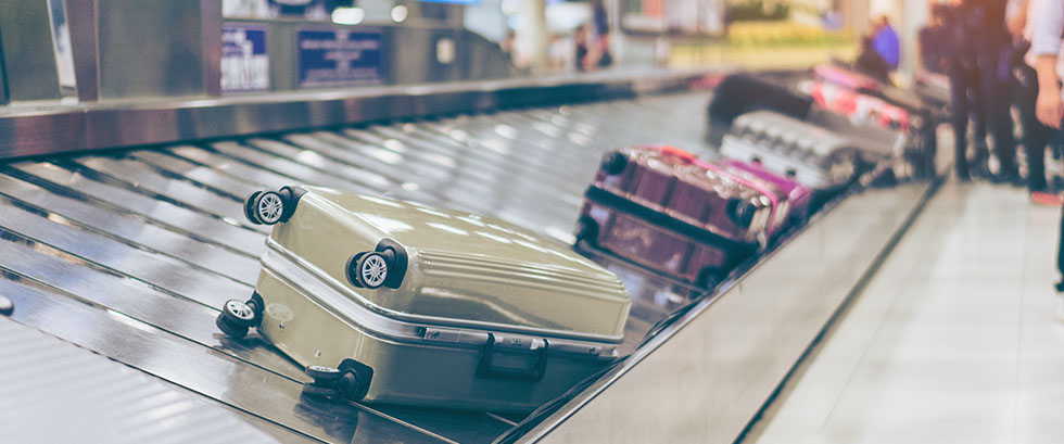 Stay calm at baggage claim.