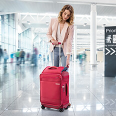 Easy access cabin luggage!