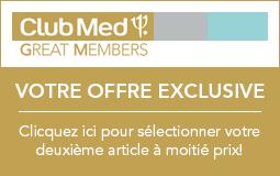 Club Med: le deuxième article à motié prix